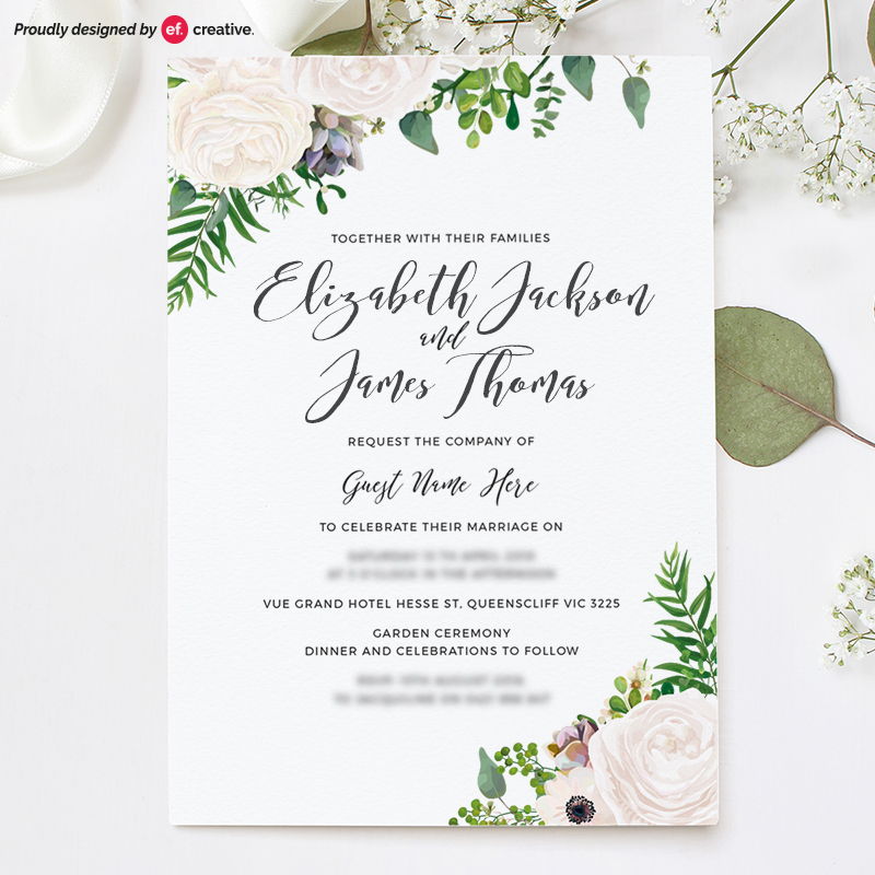 Ef creative graphic design melbourne logo design melbourne wedding invitation stopboris Image collections